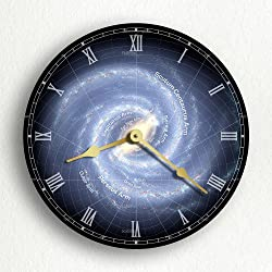 Milky Way Galaxy Outer Space Beautiful 12 Silent Wall Clock