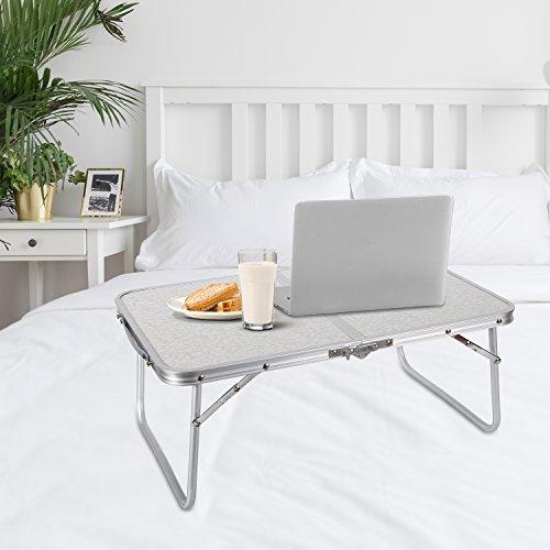 redcamp mesa para computadora portátil para cama, plegable bandeja de servir el desayuno en la cama con patas