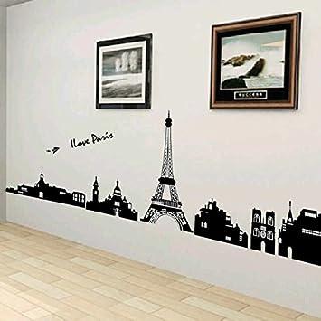 Syga U0027I Love Paris Eiffel Toweru0027 Wall Sticker (PVC Vinyl, 61 Cm