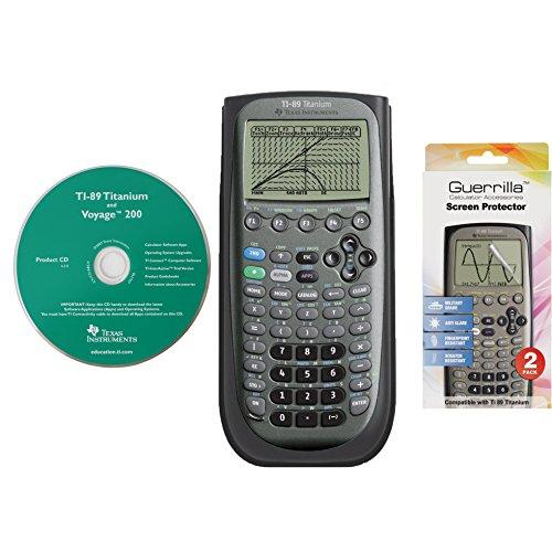 Texas Instruments TI89RSPFFP Titanium Calculadora gráfica con set de protector de pantalla de grado militar (reparación...