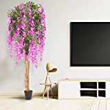 VINGLI 6Ft Fake Westeria Flower Tree, Artificial