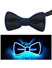 LED Light Up Bow Tie Perfect for Party (Blue)