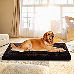 Memory Large Fleece Foam Pet Bed Dog Cat Puppy Pad Mat Cushion Removable Cover