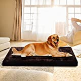 Memory Large Fleece Foam Pet Bed Dog Cat Puppy Pad Mat Cushion w Removable Cover