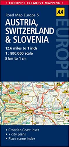 Road Map Austria Switzerland Slovenia Road Map Europe AA - Road map of austria
