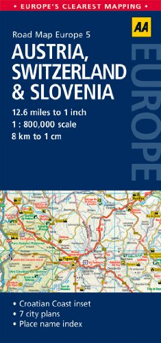 Road Map Austria, Switzerland & Slovenia (Road Map Europe)...