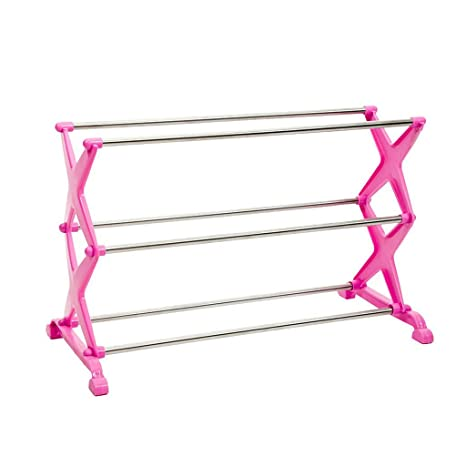db63fc08a5 Amazon.com  LF furniture shoe rack Stainless Steel Multi-Layer Shoe ...