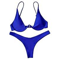 Rehao Costume Da Bagno Donne push-up brasiliano bikini set, Sexy Bikini Costumi Da Bagno Donna Vita Alta Beachwear Due Pezzi
