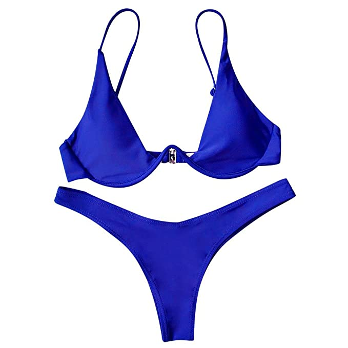 Rehao Mujer Traje de Baño, Sexy Ropa de baño Push-Up Bikini Acolchado Bra