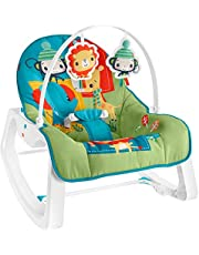 Fisher-Price Infant-to-Toddler Rocker - Colorful Jungle, Baby Rocking Chair with Toys for Soothing or Playtime From Infant to Toddler