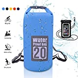Cheap WIN.MAX Dry Bag, Waterproof Floating Dry Sack 5L/10L/15L/20L (Blue, 20L)