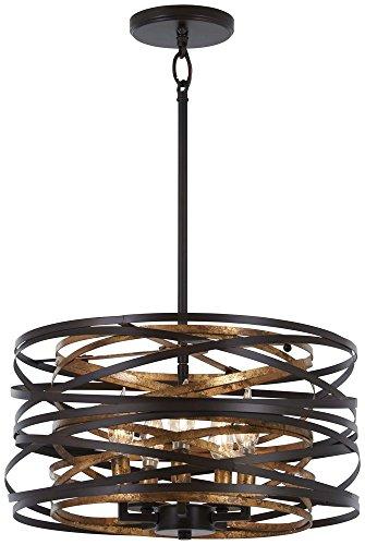 Minka Lavery Pendant Ceiling Lighting 4675-111 Vortic Flow, 5-Light 300 Watts, Dark Bronze