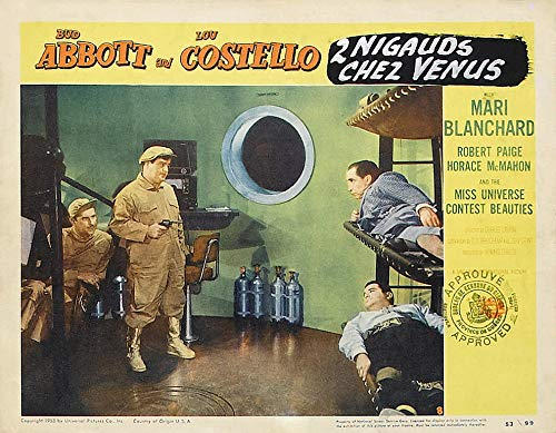 11 x 14 Inch Puzzle 252 Pcs Poster Abbott and Costello Go to Mars