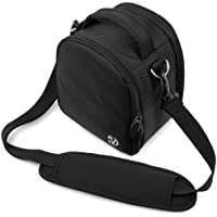 VanGoddy Laurel Carrying Bag for Panasonic Lumix DMC FZ300, LZ40, FZ1000, LZ30, FZ70, LZ20, FZ60, FZ62, FZ200, FZ47, FZ48, FZ150, FZ35, FZ38 SLR-Like Digital Cameras (Black)