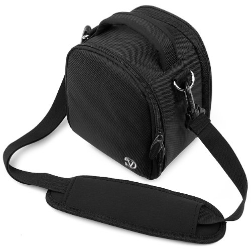Jet Black VG Laurel DSLR Camera Carrying Bag with Removable Shoulder Strap for Leica S2 / Leica V-Lux 3 / Leica V-Lux 4 / Leica T (Typ 701) / Leica (Digital Camera Jet)