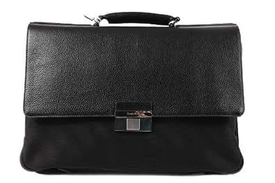 Calvin Klein bolsa de trabajo maletín hombre en piel nuevo luca negro