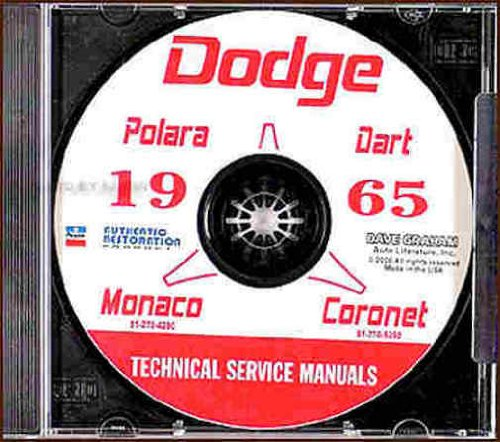 Monaco Seat - 1965 DODGE REPAIR SHOP & SERVICE MANUAL & BODY MANUAL CD INCUDES: Dart, Dart GT, Dart 270, Coronet, Coronet 440, Polara, Custom 880 and Monaco series. 65