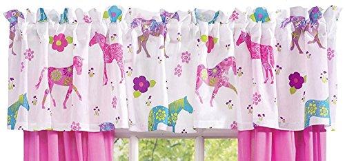 Cheap Pink Pony Western Horse Valance Curtain (84″w x 16″l) Window Treatment