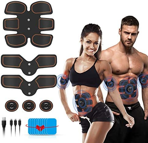 Abs Stimulator Muscle Toner, Muscle Trainer, Abdominal Toning Belt Ultimate Abs Stimulator for Men Women, Rechargeable Stimulator Abdominal Muscle Toner with 6 Modes & 9 Levels Operation 1