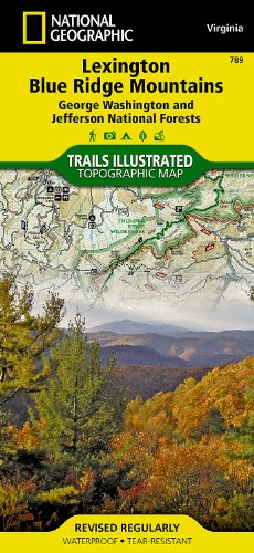 National Forest Trail Map (Lexington, Blue Ridge Mts [George Washington and Jefferson National Forests] (National Geographic Trails Illustrated Map))