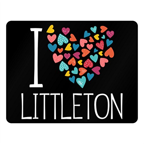 Idakoos - I love Littleton colorful hearts - US Cities - Plastic (Fun City Littleton)