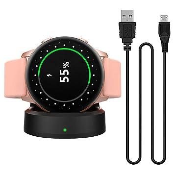 MoKo Base de Carga Compatible con Samsung Galaxy Watch Active, Portátil y Magnético Cargador de Repueto de Carga Rápida, Adaptador de Reemplazo - ...