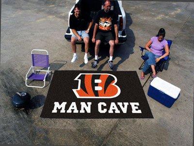 Fan Mats Cincinnati Bengals Man Cave Ulti-Mat, Rug, 60'' X 96'' by Fanmats
