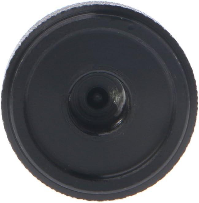 Pomo de control de potenci/ómetro giratorio de aluminio negro de 0.24 pulgadas de di/ámetro 20 mm x 16 mm de ancho