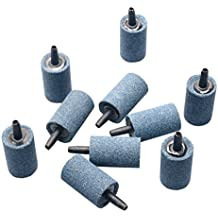"""Pawfly 10 PCS Air Stone Cylinder 1.2"""" Bubble Diffuser Airstones for Aquarium Fish Tank Pump and Hydroponics"""