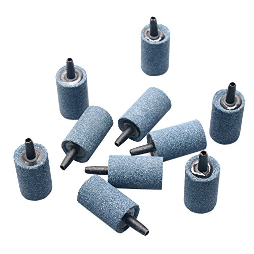 "Pawfly 10 PCS Air Stone Cylinder 1.2"" Bubble Diffuser Airstones for Aquarium Fish Tank Pump and Hydroponics from Pawfly"