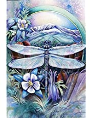5d Diamond Painting Kits Full Round Drill Rhinestone Pictures for Home Wall Decor 12x16Inch Dragonfly
