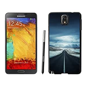 NEW Unique Custom Designed For Case HTC One M8 Cover Phone Case With Lonely Mountain Valley Road_Black Phone Case