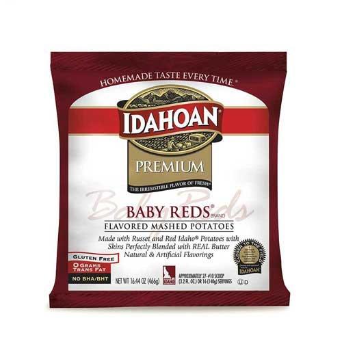 Idahoan Premium Baby Reds Mash Potatoes, 32.5 Ounce - 8 per case. by Idahoan