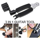 OriGlam Outil pour guitare 3 en 1multifonction, enrouleur de cordes, coupe-corde et extracteur