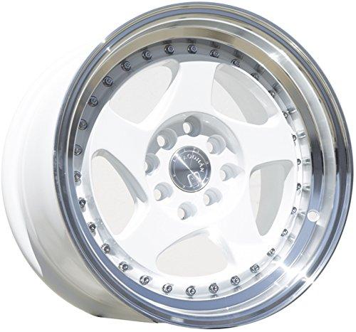 Aodhan Wheels AH-01: Rim Size 17x9, 4x100/114.3, 73.1, 25 (White Machined Lip) (4 Lug Chrome Rims)