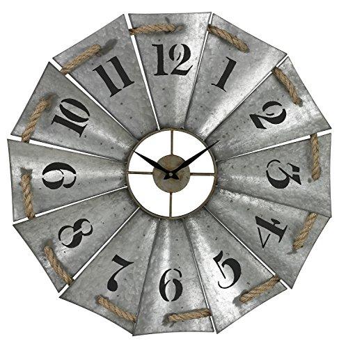 Aluminum And Rope Wall Clock - metal wall clock