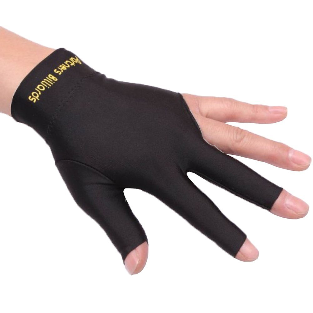 1Piece Professional Billiards Gloves 3Fingers Carom Snooker Pool Cue Shooters 1301Hunting Gloves Men Women Licra Gloves Fu