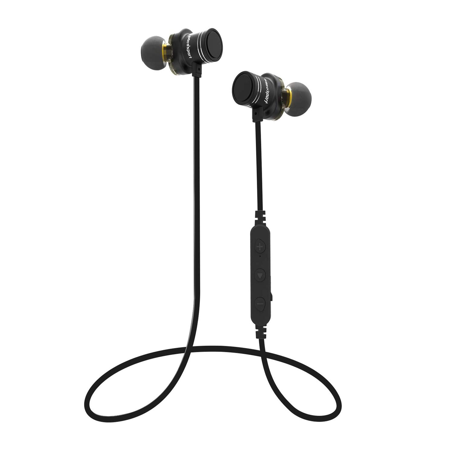 Mee sport X670 Bluetooth Headphones Waterproof Wireless Sports Earphones, Richer Bass in-Ear Earbuds with Mic, 8 Hours Playtime Noise Cancelling Headsets for Running Gym Comfy Fast Pairing