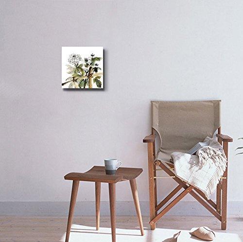 Chinese Chrysanthemum Garden Ink Painting on White Background