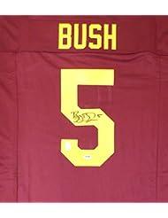 USC Trojans Reggie Bush Autographed Red Jersey PSA/DNA