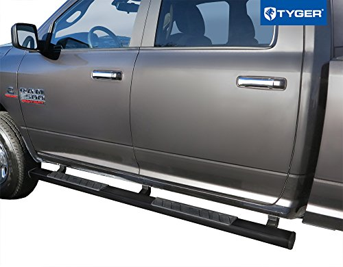 41IInUJCDHL Tyger Auto TG-RS2D40078 RISER For 2009-2018 Dodge Ram 1500/2010-2018 Ram 2500/3500 Crew Cab 4inch Black Side Step Nerf Bars Running Boards