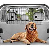 rabbitgoo Dog Car Barrier for SUVs, Van, Vehicles - Adjustable Large Pet SUV Barriers Universal-Fit, Heavy-Duty Wire Mesh Dog
