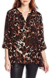 Rafaella Tawny Women's Animal-Print Woven Shirt (Medium)
