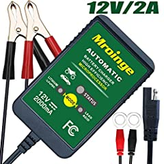 Mroinge MBC022 12V 2A Battery Charger is much more than a trickle charger. It has a smart brain, is lightweight, compact, fully automatic and very easy to use especially in small spaces, that digitally controls the 5-stages of battery chargin...