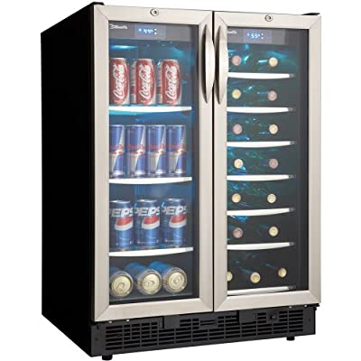 Danby Silhouette French Door Design 60 Can/27 Bottle Beverage Center