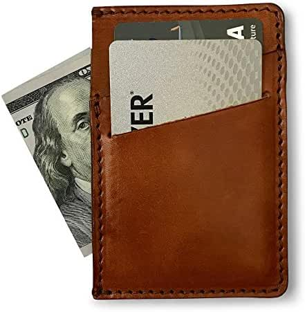 Full Grain Leather Minimalist Wallet & Slim Front Pocket Card Holder by Jackson Wayne