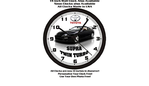 Amazon.com: 1998 TOYOTA SUPRA TWIN TURBO WALL CLOCK-FREE USA SHIP!: Home & Kitchen