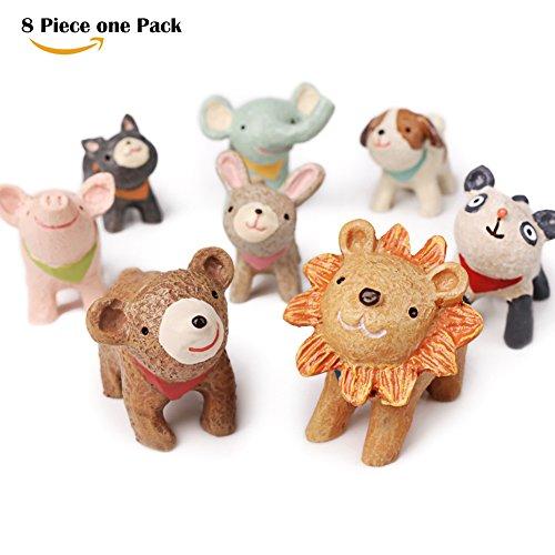 Cute Little Rabbit Set (Cartoon Toys set Mini Tabletop Animal Figurines set Cute Home Decoration by Pukka Home)