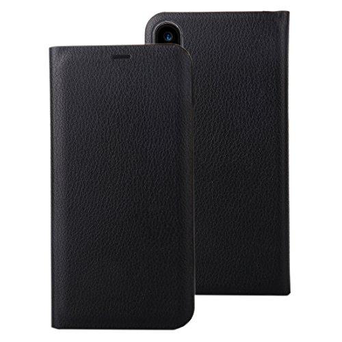 Protege tu iPhone, Para el iPhone 8 Lichí Textura PU + PC Caja de cuero horizontal del tirón con la ranura para tarjeta, pequeña cantidad recomendada antes del lanzamiento del iPhone 8 Para el teléfon Negro