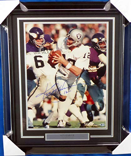 Ken Stabler Autographed Framed 16x20 Photo Oakland Raiders Beckett BAS #H10792